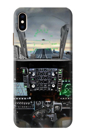 Printed Fighter Jet Aircraft Cockpit iPhone XS Max Case