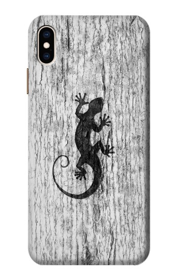 Printed Gecko Wood Graphics Printed iPhone XS Max Case