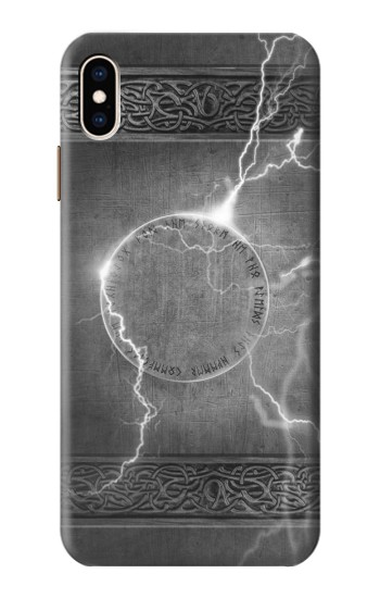 Printed Thor Thunder Strike Hammer iPhone XS Max Case