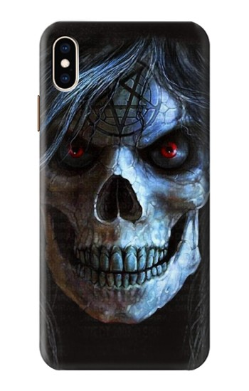 Printed Evil Death Skull iPhone XS Max Case