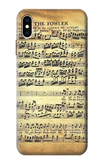 Printed The Fowler Mozart Music Sheet iPhone XS Max Case
