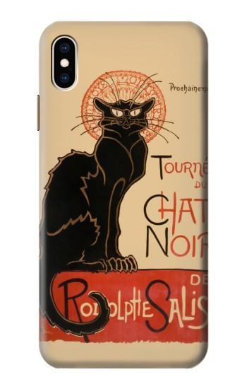 Printed Chat Noir The Black Cat iPhone XS Max Case