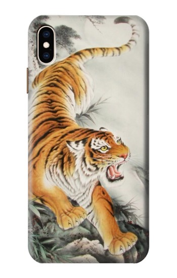 Printed Chinese Tiger Tattoo Painting iPhone XS Max Case