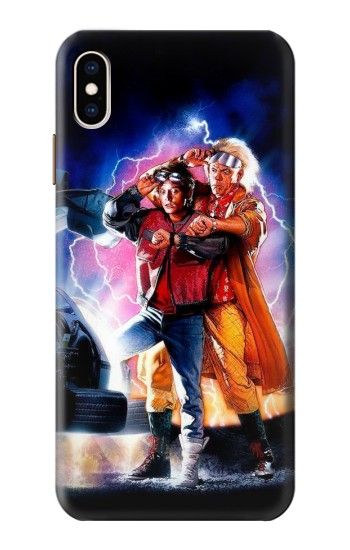 Printed Back to the Future iPhone XS Max Case