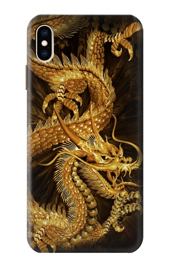 Printed Chinese Gold Dragon Printed iPhone XS Max Case