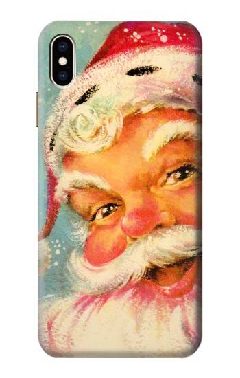 Printed Christmas Vintage Santa iPhone XS Max Case