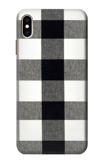 Printed Black and White Buffalo Check Pattern iPhone XS Max Case