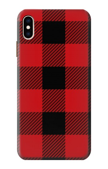 Printed Red Buffalo Check Pattern iPhone XS Max Case