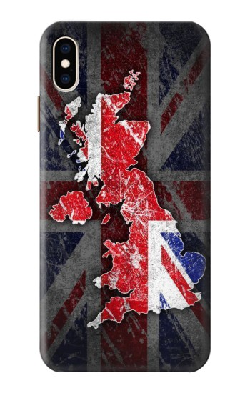 Printed UK British Flag Map iPhone XS Max Case