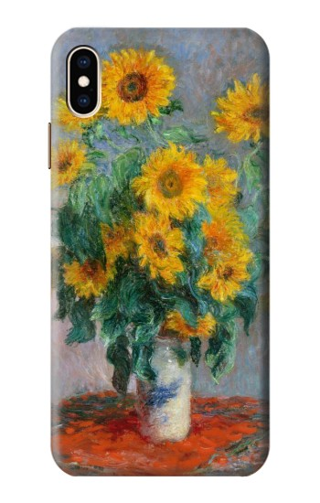 Printed Claude Monet Bouquet of Sunflowers iPhone XS Max Case