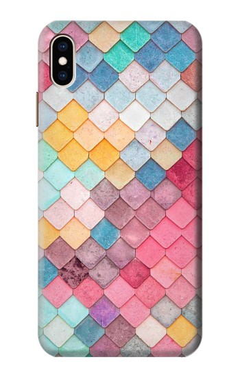 Printed Candy Minimal Pastel Colors iPhone XS Max Case