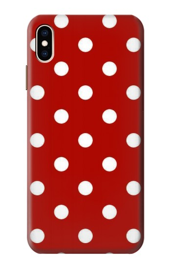 Printed Red Polka Dots iPhone XS Max Case