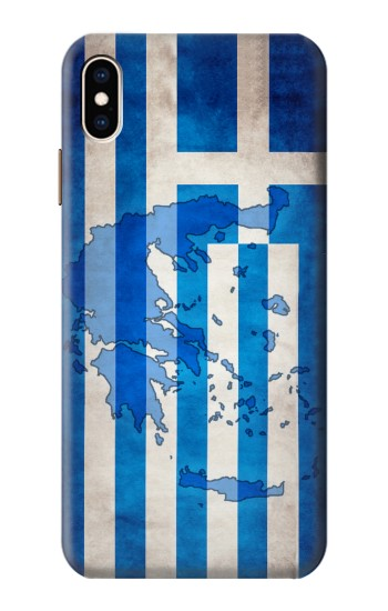 Printed Greece Map Flag iPhone XS Max Case