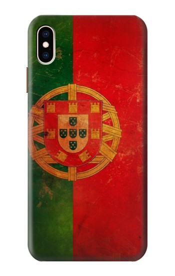 Printed Vintage Portugal Flag iPhone XS Max Case