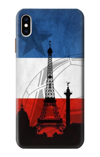 Printed France Football Flag iPhone XS Max Case