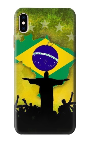 Printed Brazil Football Flag iPhone XS Max Case