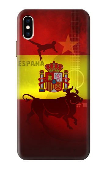 Printed Spain Football Flag iPhone XS Max Case