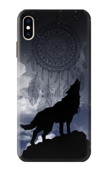 Printed Dream Catcher Wolf Howling iPhone XS Max Case