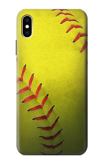 Printed Yellow Softball Ball iPhone XS Max Case