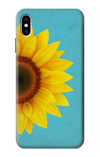 Printed Vintage Sunflower Blue iPhone XS Max Case