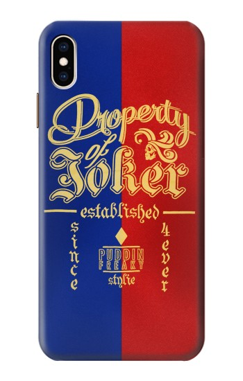 Printed Property of Joker Puddin Freaky Style iPhone XS Max Case