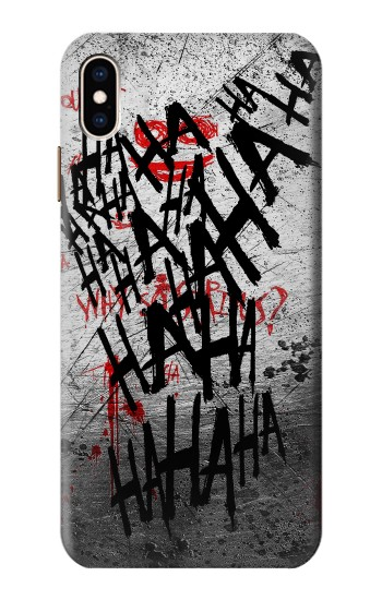 Printed Joker Hahaha Blood Splash iPhone XS Max Case