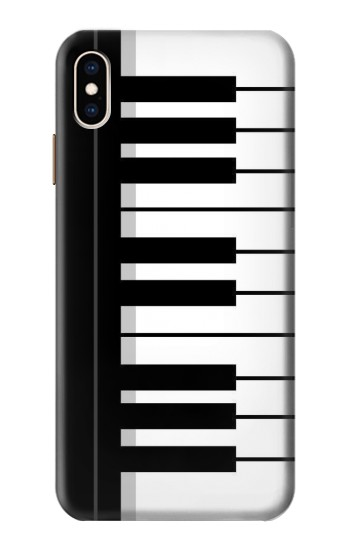 Printed Black and White Piano Keyboard iPhone XS Max Case