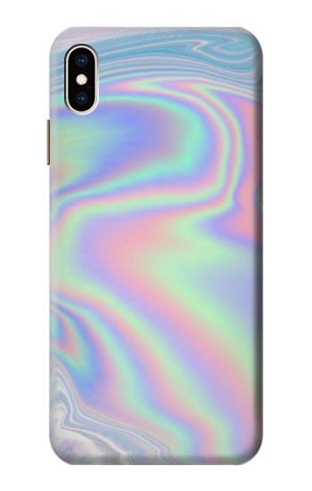 Printed Pastel Holographic Photo Printed iPhone XS Max Case