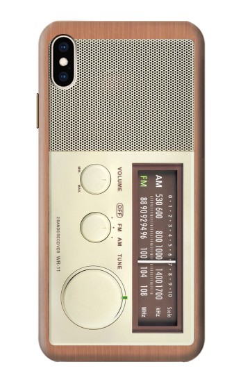 Printed FM AM Wooden Receiver Graphic iPhone XS Max Case
