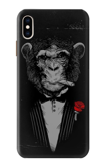 Printed Funny Monkey God Father iPhone XS Max Case