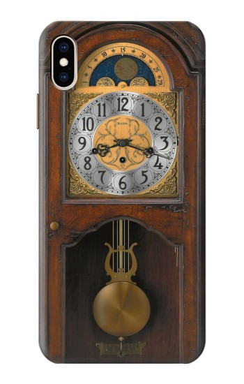 Printed Grandfather Clock Antique Wall Clock iPhone XS Max Case