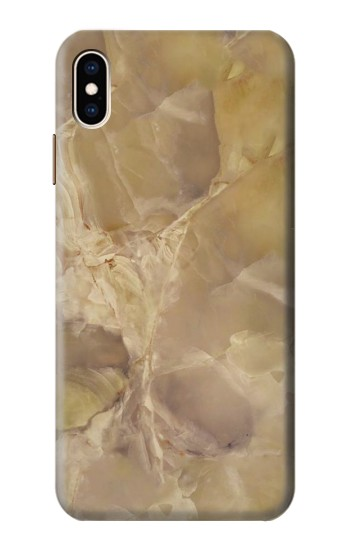Printed Yellow Marble Stone iPhone XS Max Case