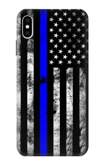Printed Thin Blue Line USA iPhone XS Max Case