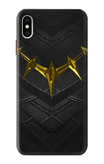 Printed Black Panther Inspired Costume Gold Necklace iPhone XS Max Case