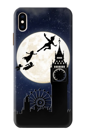 Printed Peter Pan Fly Fullmoon Night iPhone XS Max Case