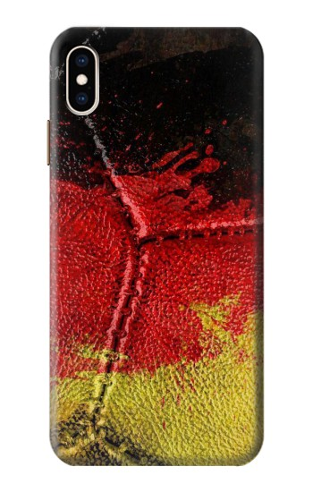 Printed Germany Flag Vintage Football 2018 iPhone XS Max Case