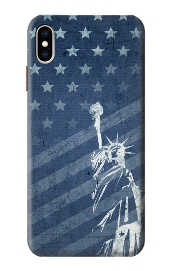 Printed US Flag Liberty Statue iPhone XS Max Case