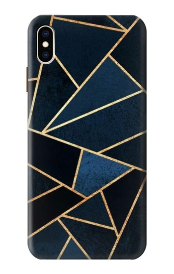 Printed Navy Blue Graphic Art iPhone XS Max Case