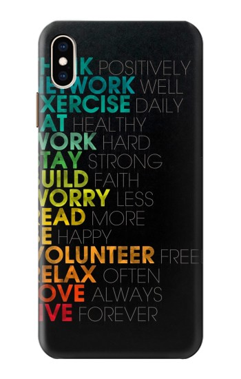 Printed Think Positive Words Quotes iPhone XS Max Case