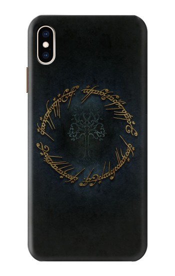 Printed Lord of The Rings Ring Elf Writing iPhone XS Max Case