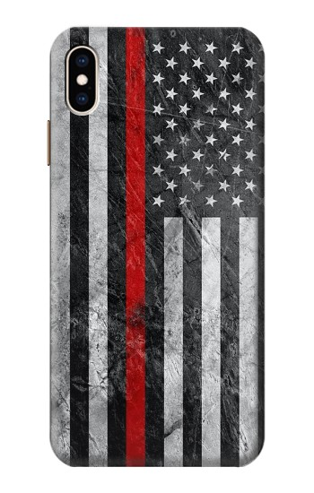 Printed Firefighter Thin Red Line American Flag iPhone XS Max Case
