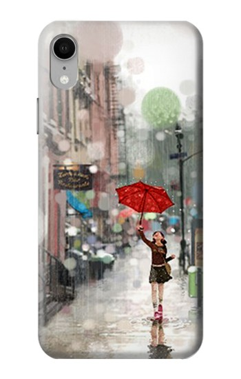 Printed Girl in The Rain iPhone XR Case