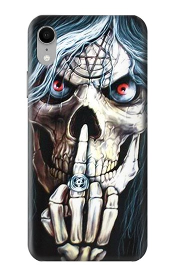 Printed Skull Pentagram iPhone XR Case