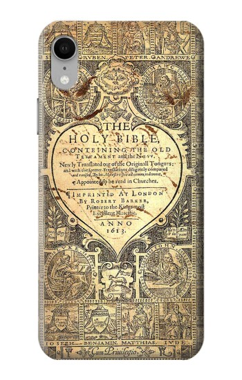 Printed Bible Page iPhone XR Case
