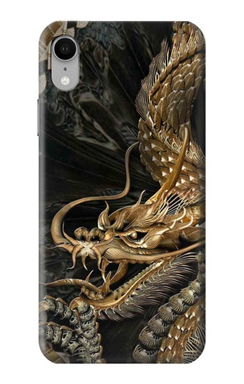 Printed Gold Dragon iPhone XR Case