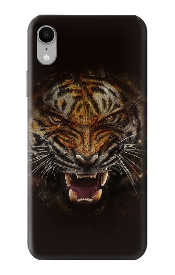 Printed Tiger Face iPhone XR Case