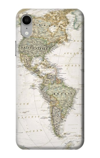 Printed World Map iPhone XR Case