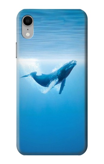 Printed Blue Whale iPhone XR Case