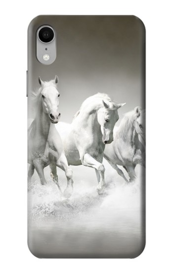 Printed White Horses iPhone XR Case