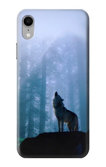 Printed Wolf Howling in Forest iPhone XR Case